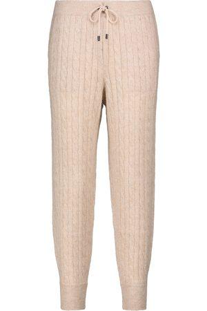 Brunello Cucinelli Pantalon de survêtement en mohair mélangé