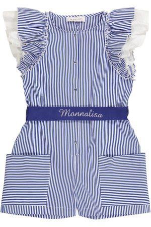 MONNALISA Combi-short rayée en coton mélangé