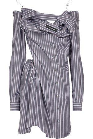 Y / PROJECT Robe chemise rayée en coton