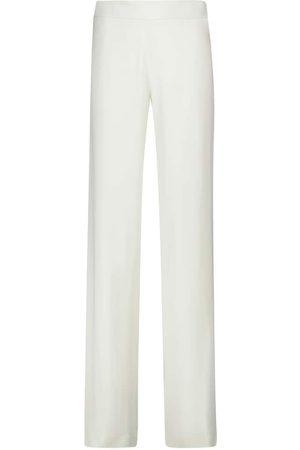 Jil Sander Pantalon ample à taille haute en soie mélangée