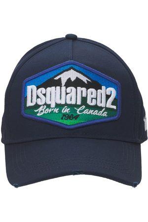 Dsquared2 Homme Casquettes - Casquette En Gabardine De Coton Avec Patch Logo