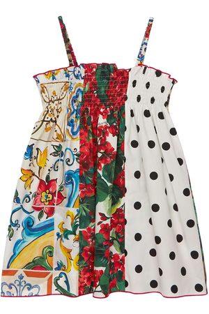 Dolce & Gabbana Fille Robes imprimées - Robe En Popeline De Coton Imprimé Patchwork