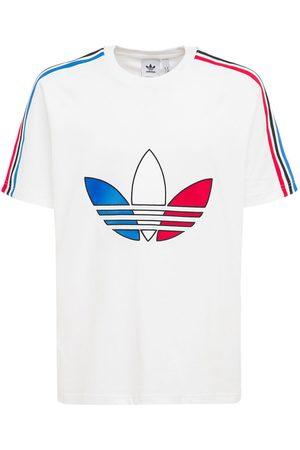 adidas T-shirt En Jersey De Coton À Logo Trèfle Tricolore