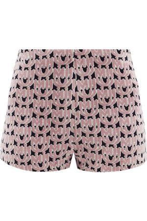 Miu Miu Femme Shorts - Short en chenille à jacquard monogramme
