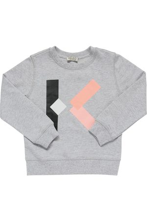 Kenzo Fille Sweatshirts - Sweat-shirt En Coton Imprimé Logo