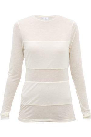 Raey T-shirt manches longues transparent à empiècement