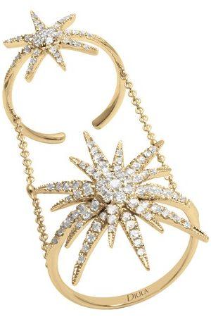 DJULA Bague - double soleil diamants