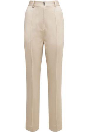 Peter Do Femme Pantalons classiques - Pantalon Ajusté En Laine De Poids Moyen