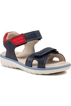 Clarks Sandales - Roam Surf K 261580507 Navy Leather