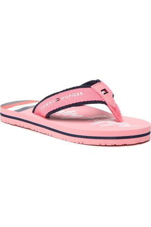 Tommy Hilfiger Fille Tongs - Tongs - Logo Print Flip Flop T3A0-30883-0058 M Pink 302