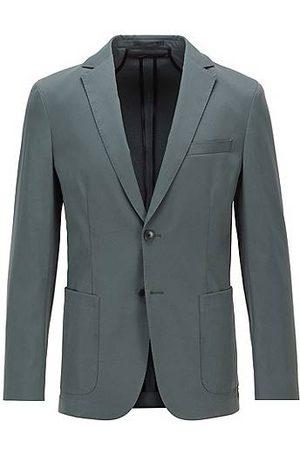 HUGO BOSS Homme Vestes - Veste Slim Fit en tissu lisse avec doublure partielle