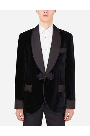 Dolce & Gabbana Homme Vestes - Manteaux et Vestes - Veste de smoking d'intérieur en velours male 44