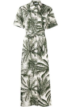 P.a.r.o.s.h. Robe-chemise à imprimé palmier