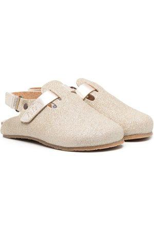 PèPè Fille Chaussons - Chaussons en cuir pailletés