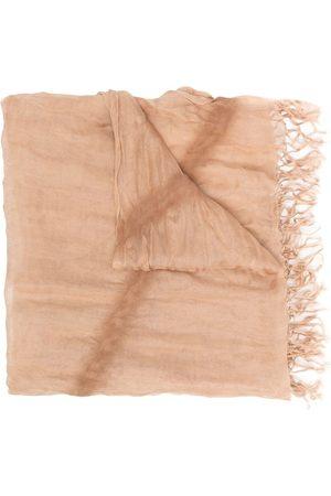 Issey Miyake écharpe en soie à franges (années 2000)