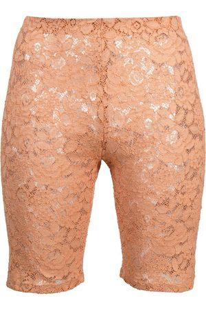 Stella McCartney Femme Shorts - Short de cyclisme à fleurs en dentelle