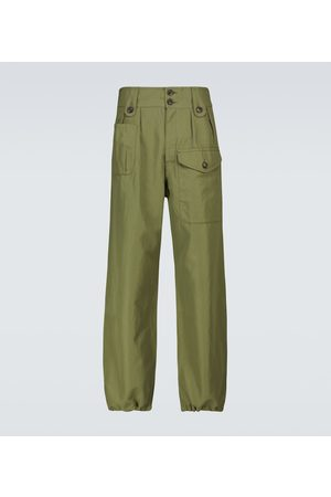 VISVIM Pantalon Coronel en laine et lin