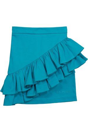 Balmain Fille Mini-jupes - Mini-jupe en coton