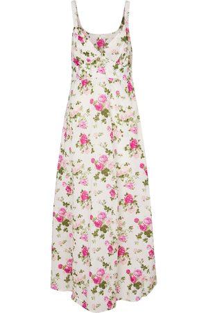 LOVESHACKFANCY Robe longue Sabina en coton à fleurs