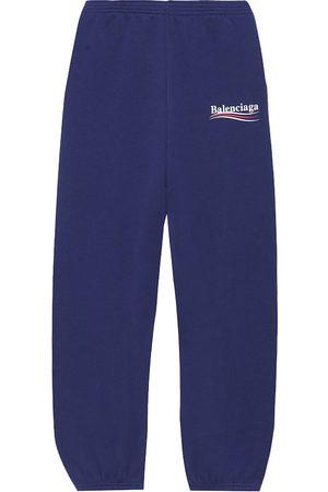Balenciaga Pantalon en coton mélangé