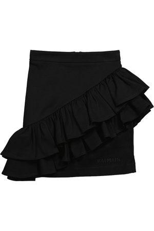Balmain Mini-jupe en coton