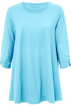 Green Cotton Le long T-shirt 100% coton turquoise