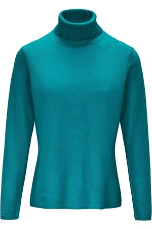 include Le pull col roulé turquoise