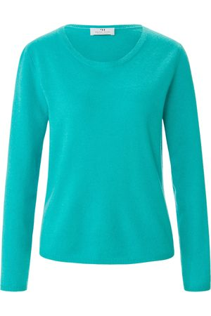 Peter Hahn Le pull 100% cachemire turquoise