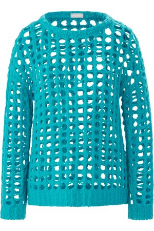 include Le pull encolure ronde turquoise