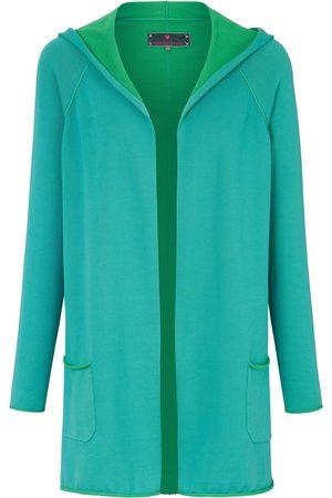 Lieblingsstück Femme Gilets - Le gilet à capuche 100% coton turquoise