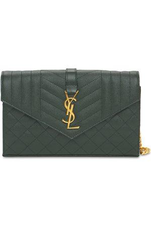 Saint Laurent Femme Sacs à main - Monogram Matelassé Leather Chain Wallet