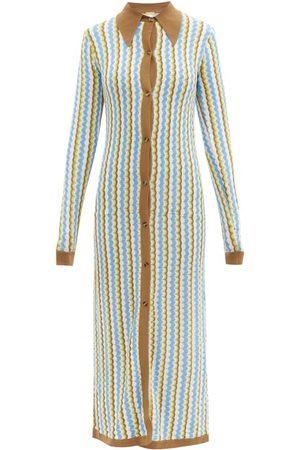 DODO BAR OR Robe longue en maille zigzag Keshia