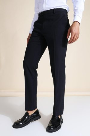 Boohoo Slim Navy Suit Trousers Homme