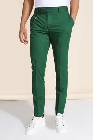 Boohooman Homme Pantalons Slim & Skinny - Skinny Chain Suit Trousers Homme