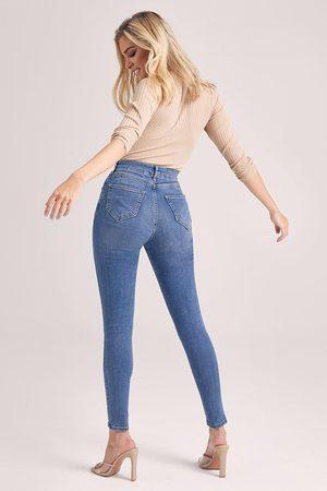 Boohoo Jeans Skinny Taille Mi-Haute Gainant Les Fesses