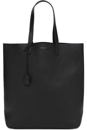 Saint Laurent Homme Cabas - Tote Bag En Cuir À Logo