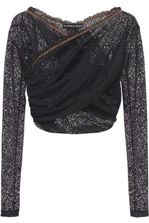Y / PROJECT Femme Tops & T-shirts - Haut Court Torsadé En Dentelle