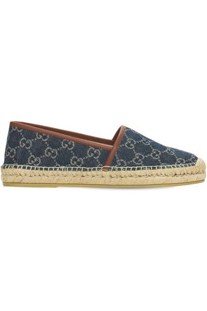 Gucci Espadrilles En Denim Jacquard 20 Mm