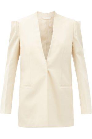 Givenchy Veste en crêpe de laine à boutonnage simple