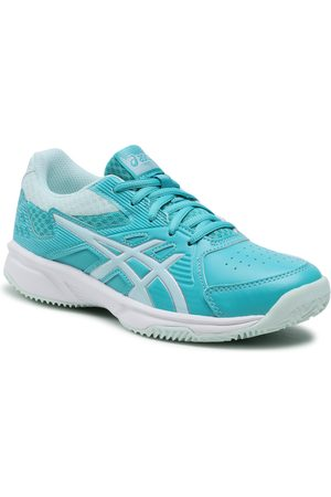 Asics Fille Chaussures basses - Chaussures - Court Slide Clay Gs 1044A006 Techno Cyan/Bio Mint