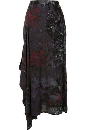 YOHJI YAMAMOTO Jupe mi-longue à imprimé abstrait