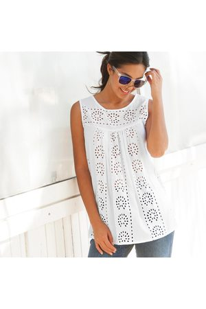 BLANCHEPORTE Chemisiers - Blouse col rond broderie anglaise