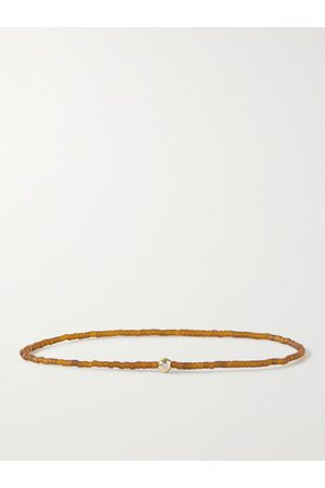 LUIS MORAIS 14-Karat Gold, Bead and Diamond Bracelet