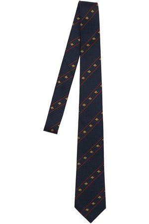 Gucci Cravate En Soiedétail Web Abeille 7 Cm