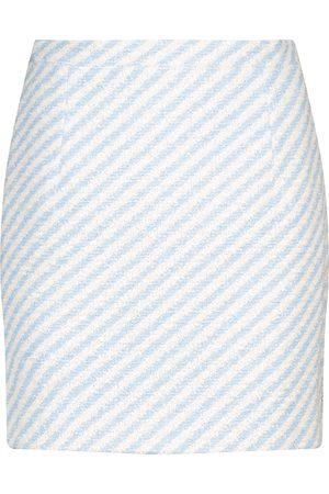 Alessandra Rich Mini-jupe rayée en tweed de coton mélangé
