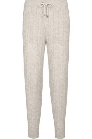 Brunello Cucinelli Pantalon de survêtement en mohair et laine mélangés