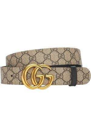 Gucci Femme Ceintures - 3.7cm Gg Marmont Reversible Canvas Belt