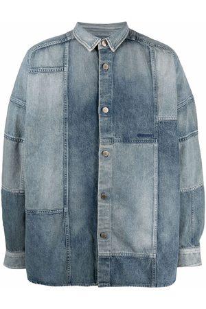 AMBUSH Homme En jean - Chemise en jean à design patchwork