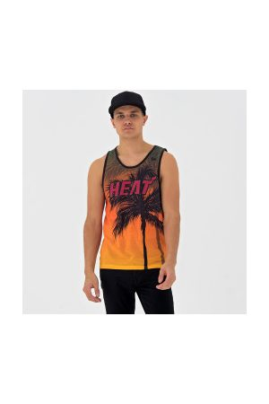 New Era Homme Débardeurs - Débardeur NBA Miami Heat Summer City pour homme