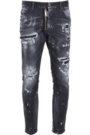 Dsquared2 Homme Jeans - Jean Cool Guy En Denim De Coton 18 Cm